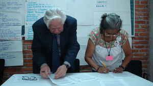 Firma del convenio UPU-UACM