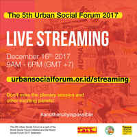 Bandung, Indonesia, 5th Urban Social Forum: December 16, 2017
