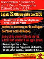 Contro la camorra, per lo sviluppo dell'area nord di Napoli. Sabato 22 Ottobre 201, dalle 20.30