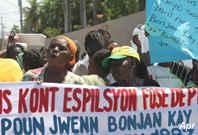 Haití: nueve meses después, desplazados reclaman viviendas dignas y seguras, OCTOBER 2010