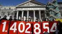 La vivienda es un derecho. Protesta de solidaridad con los y las desahuciadas españolas