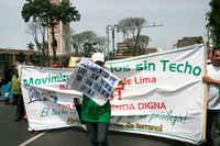 """Lima, marcha del """"Movimiento de los Sin Techo de Lima y Callao"""""""