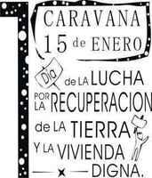 Mar del Plata, 1º Caravana por la recuperacion de la tierra y  el derecho a la vivienda digna