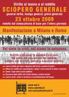 Sciopero generale 23 ottobre 2009,ROMA,ottobre 2009